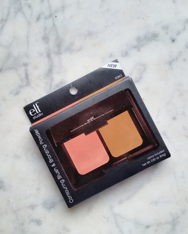 Call Me Katie - elf studio contouring blush and bronzing powder from CVS, inside the packaging
