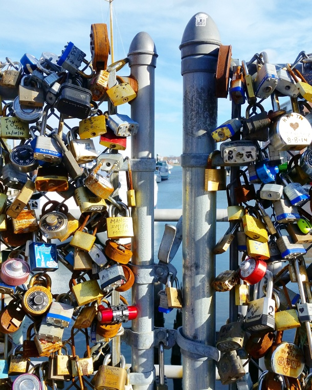 Call Me Katie - love locks in Portland Maine