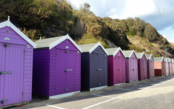 Call Me Katie - Bournemouth - Purple Beach Huts, landscape