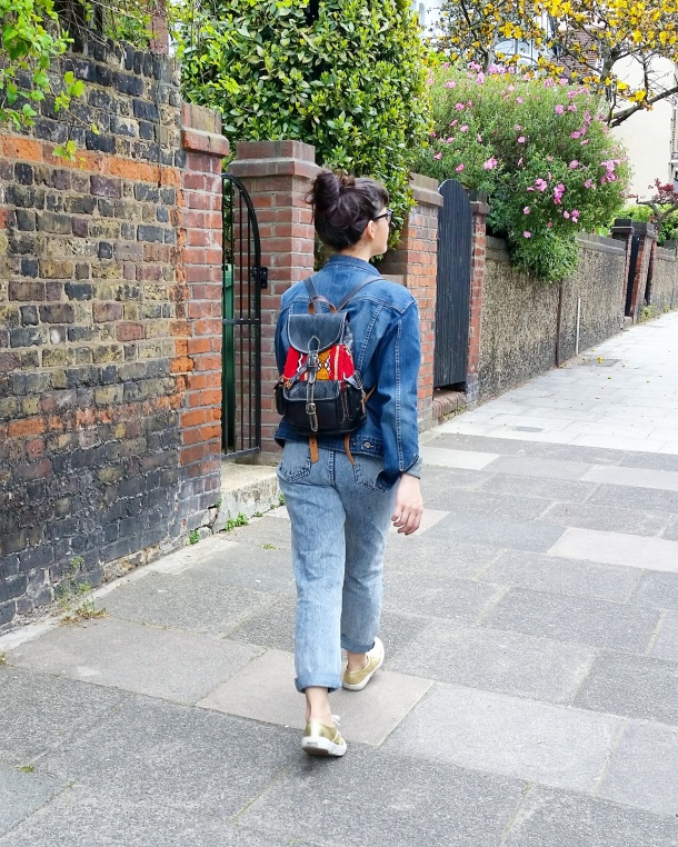 Call Me Katie - Lost Ink cropped floral cami with ripped mom jeans by Noisy May and gold Superga sneakers via ASOS for a spring look to wear to Sunday lunch weekend style 3