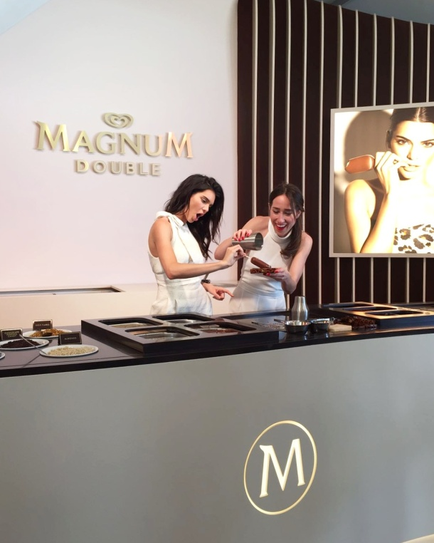 Call Me Katie - Magnum Cannes - dipping Magnums with Kendall Jenner 1