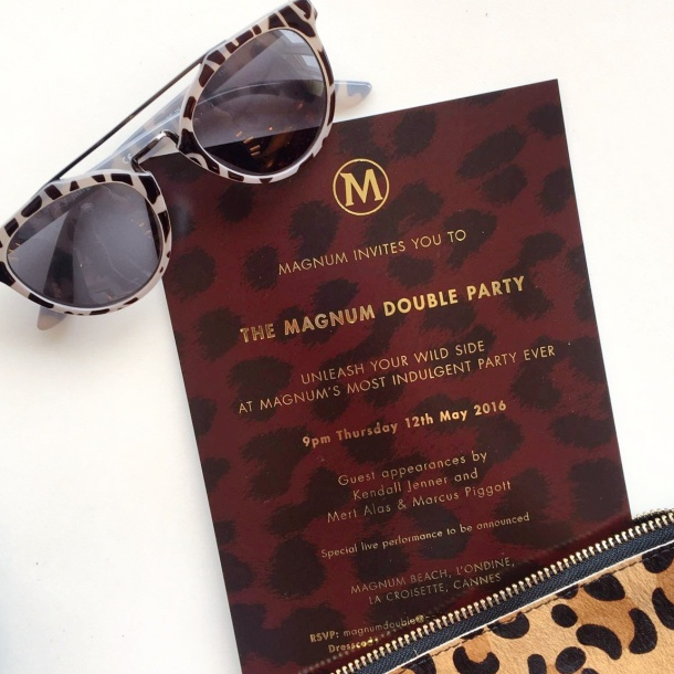 Call Me Katie - Magnum Cannes - practicing flat lays with the invite