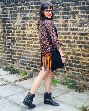Wearing fringe on fringe (with fringe!) for a night out at Dishoom