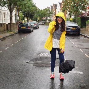 What I wore: a rainy walk in London