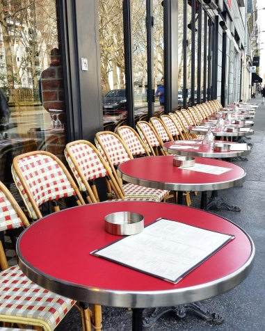 Call Me Katie - Instagramable Spots in Paris - tables and chairs outside of cafes on the terrace