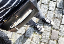 Call Me Katie - What I Wore In Paris - Kate Spade Bag Levi Jeans Converse High Tops