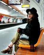 Call Me Katie - What I Wore In Paris - Zara Fedora Kate Spade Bag Topshop Gold Pleat Trousers ASOS wedge heels 1