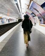 Call Me Katie - What I Wore In Paris - Zara Fedora Kate Spade Bag Topshop Gold Pleat Trousers ASOS wedge heels 3