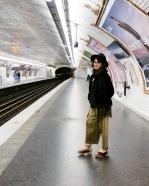 Call Me Katie - What I Wore In Paris - Zara Fedora Kate Spade Bag Topshop Gold Pleat Trousers ASOS wedge heels 5