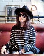 Call Me Katie - What I Wore In Paris - Zara Fedora Suncoo Striped Sweater Whistle and Bango Bangle 1