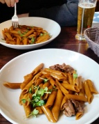 Call Me Katie - Where to Eat in Paris - Hotel du Nord - pates au boeuf sauce teriyaki et soja