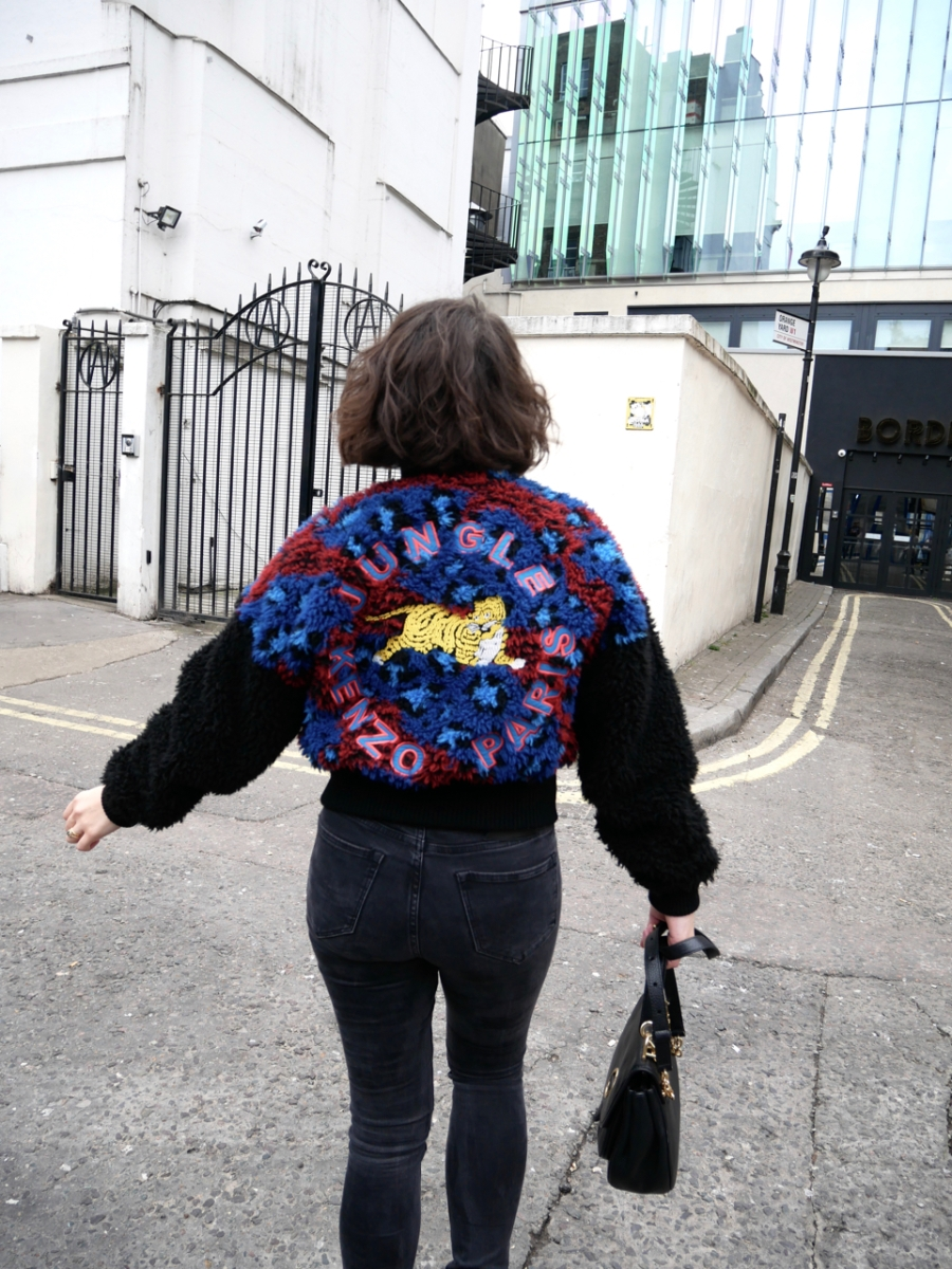 What I wore: skinny jeans and a bomber jacket for a trip to Chinatown to celebrate the year of the dog