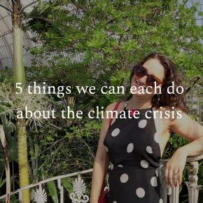 5 things we can each do about the climate crisis