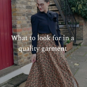 What to look for in a quality garment