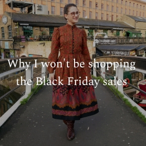 Why I won't be shopping the Black Friday sales