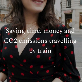 Saving time, money and CO2 emissions travelling by train